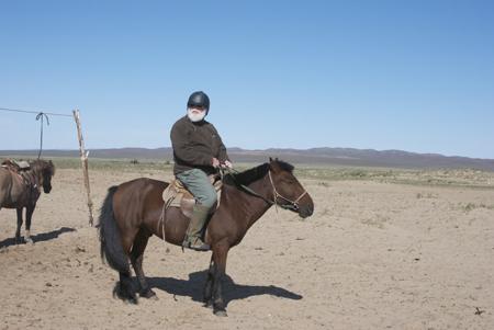 David on Mongolian horse