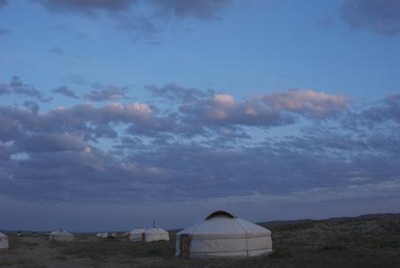 Arburd Sands ger camp at sunrise