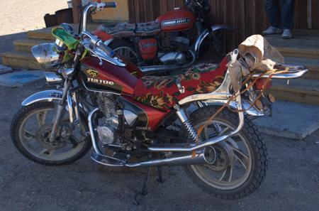 Motorcycle, western Mongolia