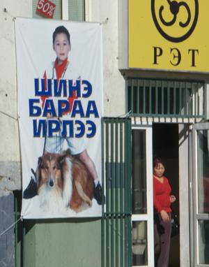 Pet shop banner, Ulaanbaatar