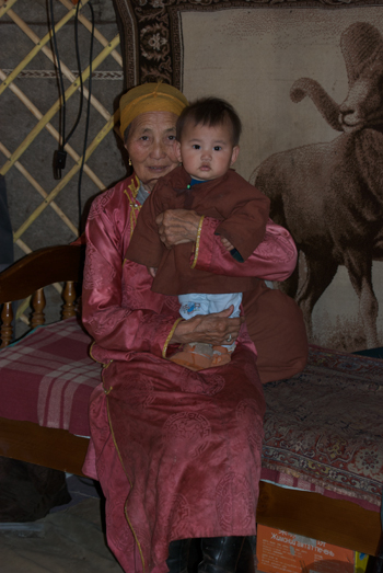 Proud grandmother, Arburd Sands