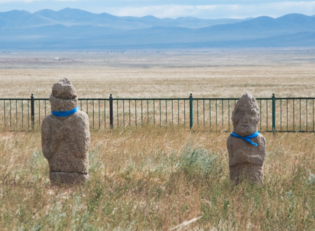 Turkic gravestones near Hustai National Park