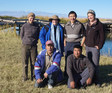 """Western Mongolia 2006, """"expedition"""" group shot"""
