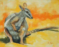 "Little Kangaroo oil 8""x10"""