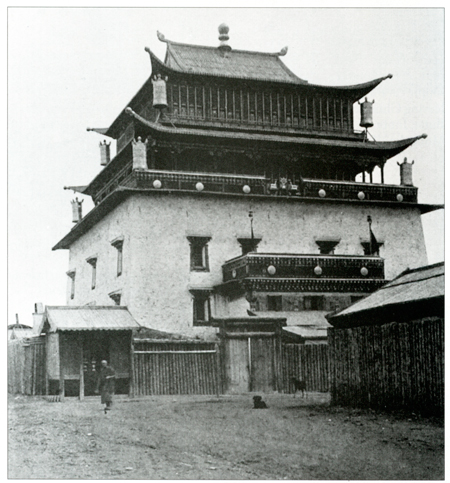 Gandan Monastery, photo by Roy Chapman Andrews, early 1920's