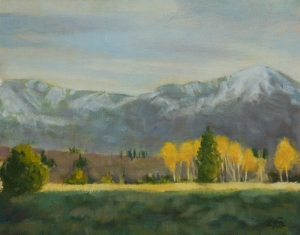 "Wyoming Aspens   oil   8""x 10"""