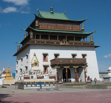 Gandan Monastery, photo by Susan Fox, 2008