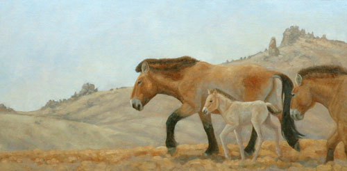 Mongolia Morning; giclee on archival paper