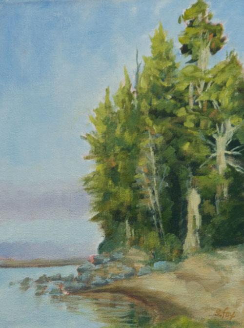 "Big Lagoon, Humboldt County plein air oil  10""x8"""