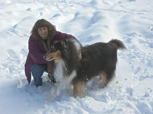 Niki and I in the snow