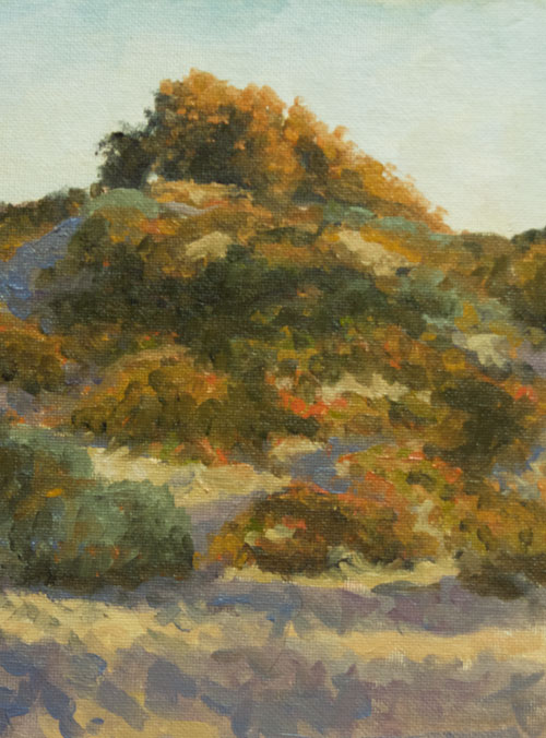 "Afternoon Light, Pismo Beach oil 10""x8"""