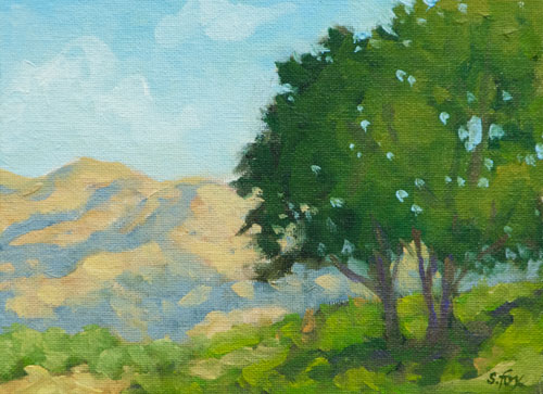 "Sunny Summer Day   oil   6""x 8"""