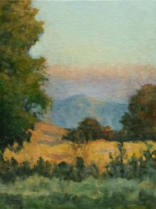 "Morning Near Goose Lake  oil  8""x6"""
