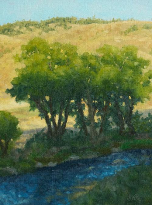 "Wyoming Creekside oil 10""x8"""