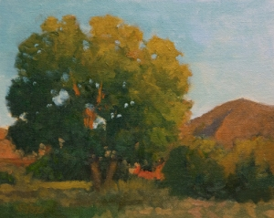 Goose Lake Afternoon 8x10 oil on canvasboard