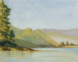 Big Lagoon Morning 8x10 oil on canvasboard; plein air