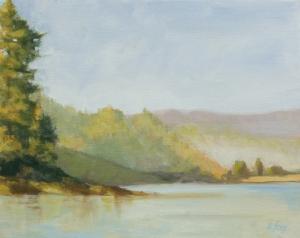 Big Lagoon Morning 8x10 oil on canvasboard; plein air