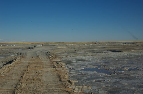 Salt deposit, western Mongolia