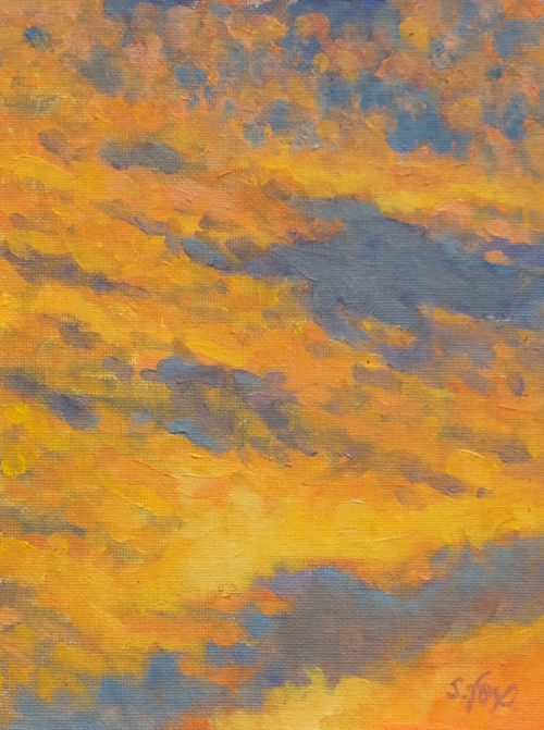 "Sunset Tapestry 8x6"" oil on canvasboard"