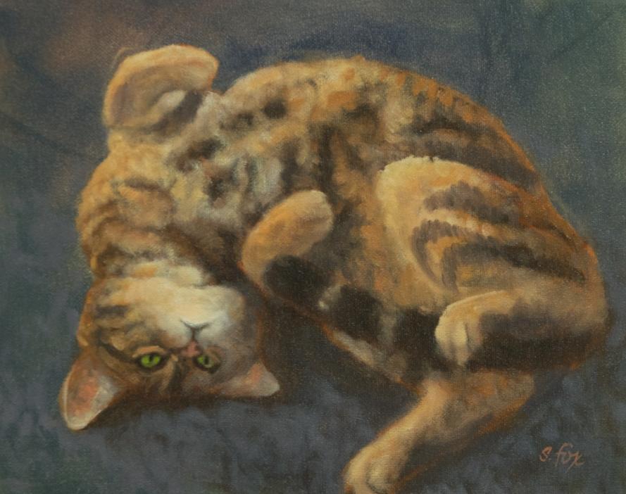 "Warm Pavement 8x10"" oil on canvasboard"