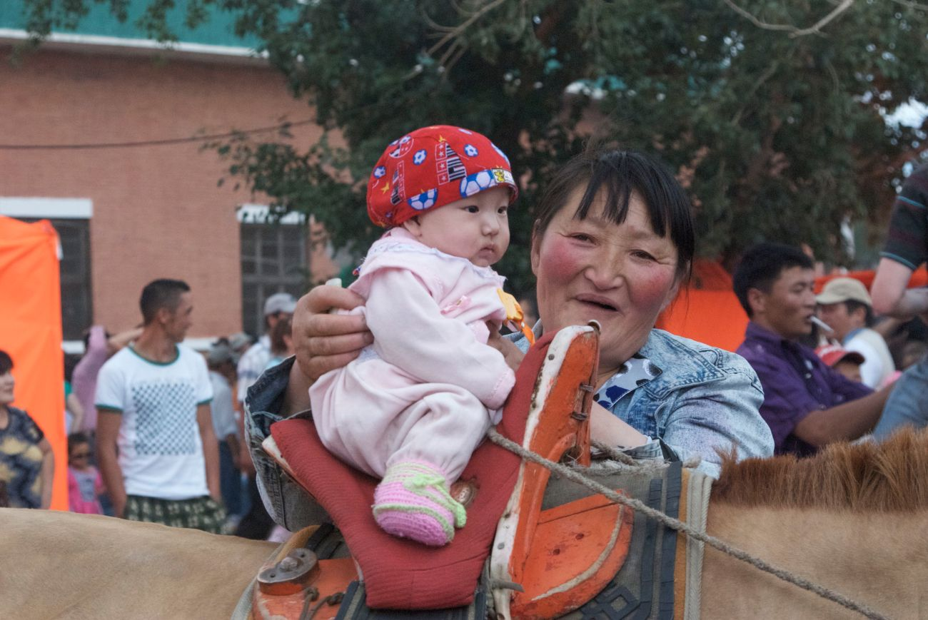 They really do start them young in Mongolia