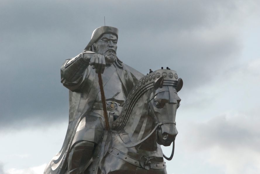 Chinggis statue detail