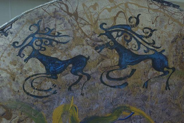 """""""Deer Drum"""", detail"""