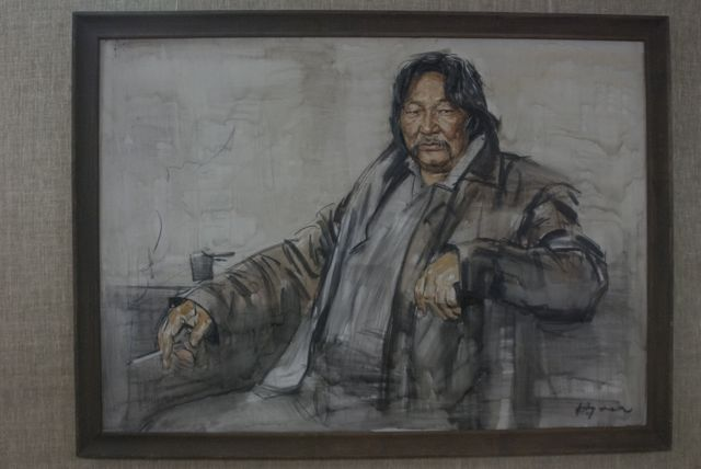 Portrait, Orkhon, N. 2006 oil