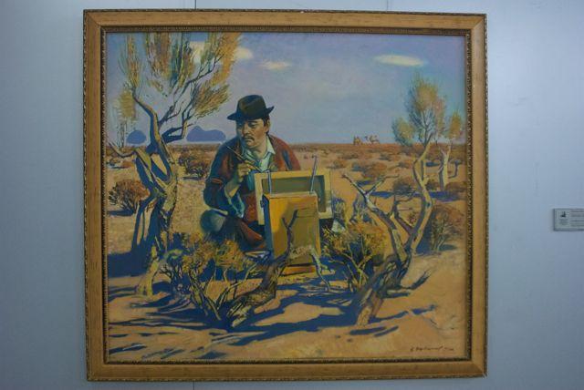 The Own Portrait- Ulziikhutag, Yondon 1991 oil