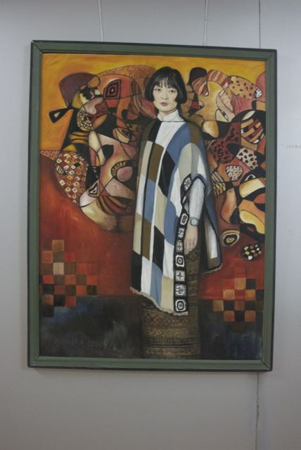 The Red Portrait, Nasantsengal Bayanjargal 2001 oil