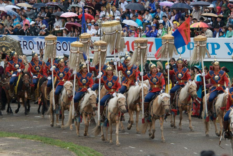 Yak standards entering stadium