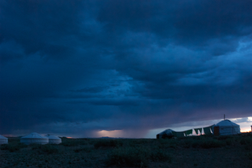 Lightning storm, Arburd Sands ger camp