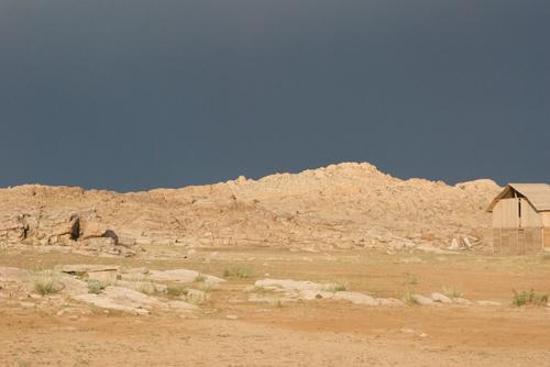 Storm light, Baga Gazriin Chuluu Nature Reserve