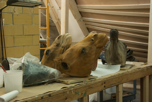A few of the camel heads