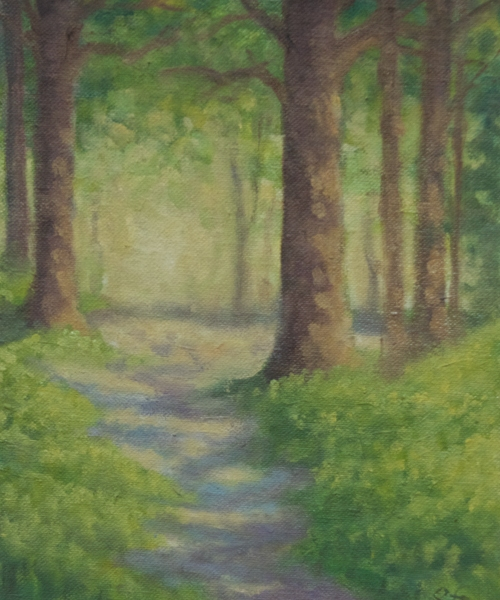 "Grasmere Path, The Lake District, England 8x6"" oil on canvasboard"