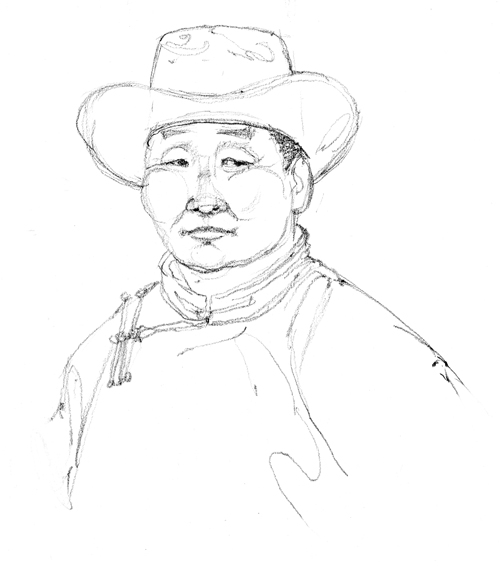 Local herder, Erdene Naadam