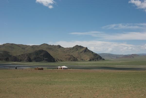 River valley, Hangai mountains north of Bayanhongor