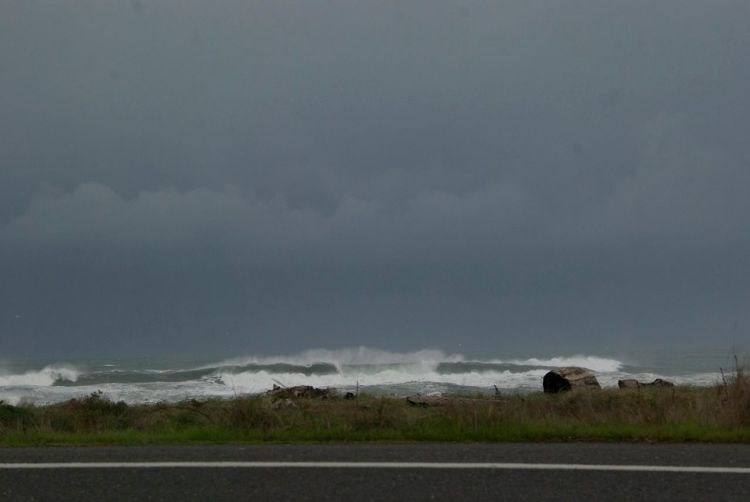 On the way home, we could see the next storm coming in and we got caught in a short spat of heavy hail.