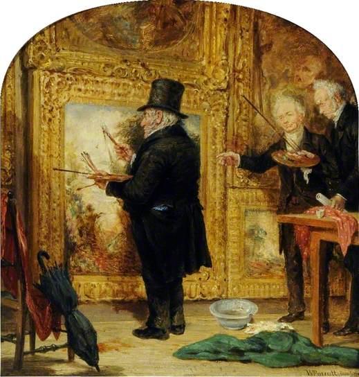 Turner on Varnishing Day by William Parrott