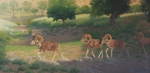 And Then They Walked Out Into The Morning Light  oil  24x48""