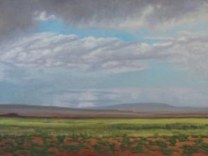 "Gobi Boroo (Gobi Rain) oil 18x24"" $3000"