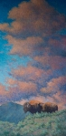 """Hayden Valley Thunder  30x15""""  oil  (Private Collection)"""
