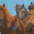"""""""Watching You"""" oil 12×24″"""