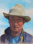 "Yak Herder  oil  12x9"" (collection of the artist)"