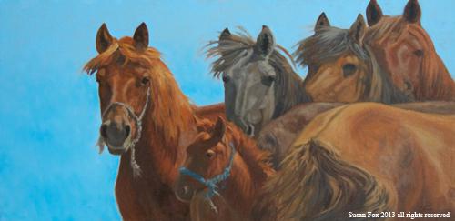 Mongol Horse #8- Watching You