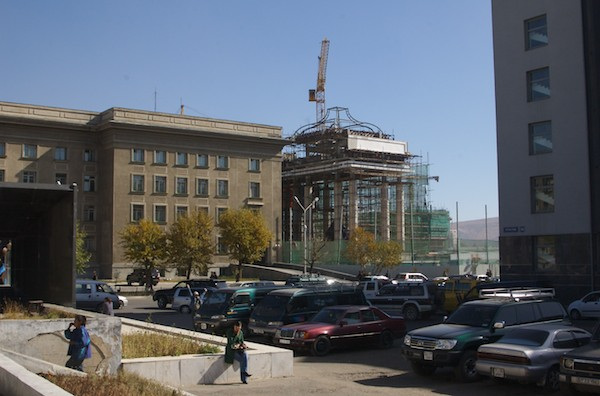 New facade being added to the old Government Building, October 2006