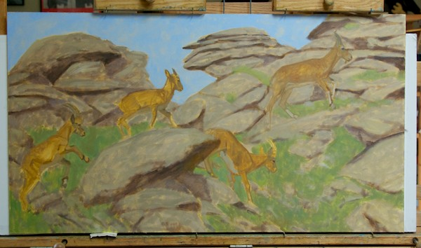 Modeling the ibex and the rocks