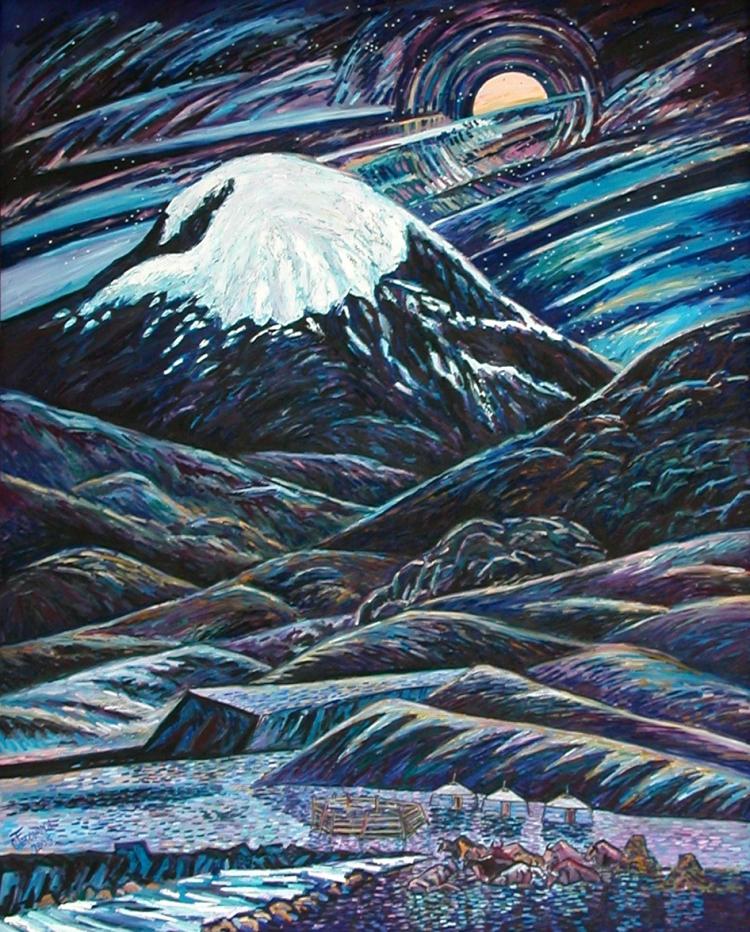Night of Otgontenger Mountain