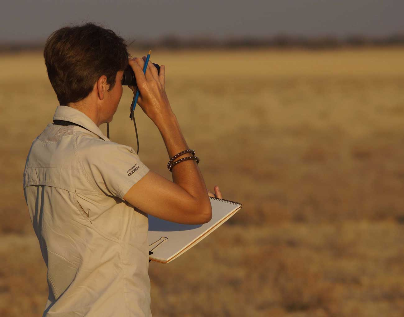 Alison Nicholls sketching in Botswana