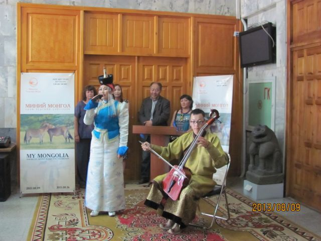 Opening ceremony with long singer and morin khuur player